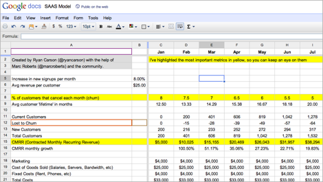 Screengrab of Google Spreadsheet showing various numbers and highlights