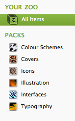 Organise content into packs