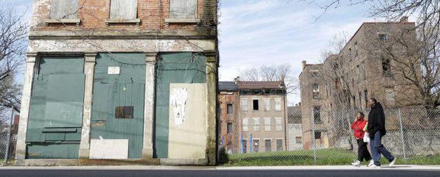 Krisenfolgen: Heruntergekommener Stadtteil in Cincinnati.